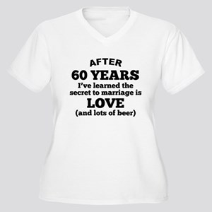 60 Years Of Love And Beer Plus Size T-Shirt