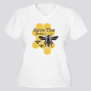 Honeycomb Save Th Women's Plus Size V-Neck T-Shirt
