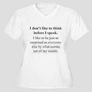 Think before I Speak Plus Size T-Shirt