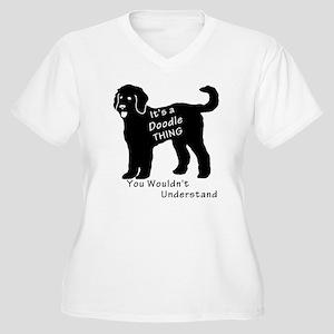 It's a Doodle Thi Women's Plus Size V-Neck T-Shirt