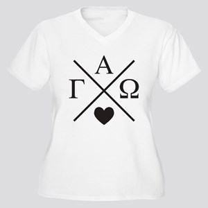 Gamma Alpha Omega Women's Plus Size V-Neck T-Shirt