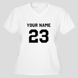 Customize sports Women's Plus Size V-Neck T-Shirt