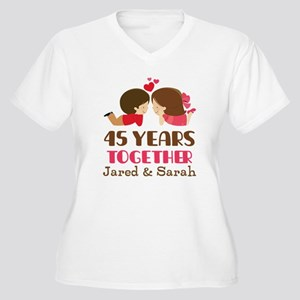 45th Anniversary Personalized Gift Plus Size T-Shi