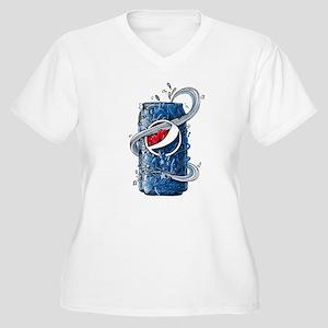 Pepsi Can Doodle Women's Plus Size V-Neck T-Shirt