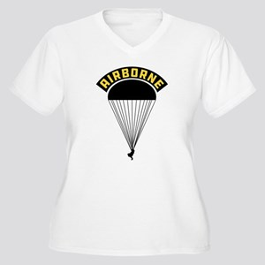 US Army Airborne Women's Plus Size V-Neck T-Shirt
