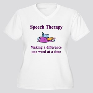 Speech Therapy Making A Diffe Women's Plus Size V-