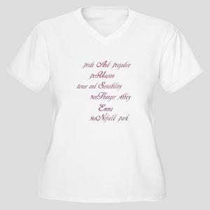 Austen Novels Women's Plus Size V-Neck T-Shirt