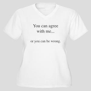 Agree Women's Plus Size V-Neck T-Shirt