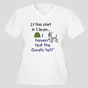 GOATS-If this Shirt is Clean Women's Plus Size V-N