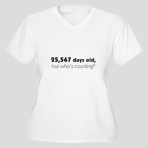 70th Birthday Women's Plus Size V-Neck T-Shirt