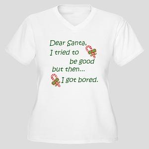 Dear Santa Women's Plus Size V-Neck T-Shirt