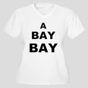 A Bay BAY Women's Plus Size V-Neck T-Shirt