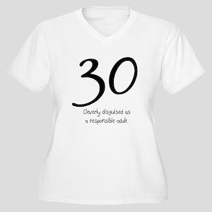 30th Birthday Women's Plus Size V-Neck T-Shirt