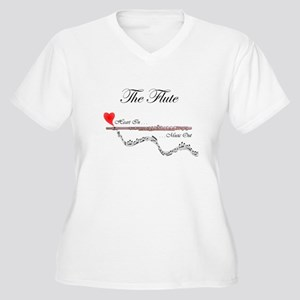 'The Flute' Women's Plus Size V-Neck T-Shirt