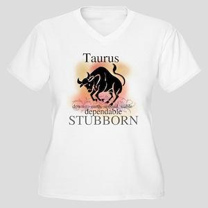 Taurus the Bull Women's Plus Size V-Neck T-Shirt