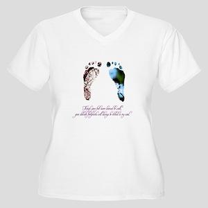 pink-blue feet poem first line Plus Size T-Shirt