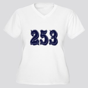 253 Womes Plus-Size V-Neck T-Shirt