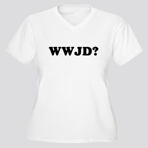 WWJD? Women's Plus Size V-Neck T-Shirt