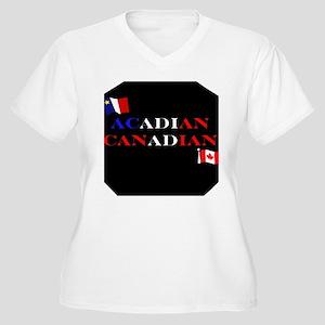 Acadian Canadian Women's Plus Size V-Neck T-Shirt