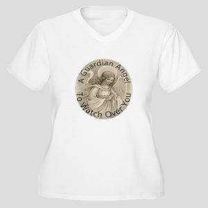 Guardian Angel Women's Plus Size V-Neck T-Shirt
