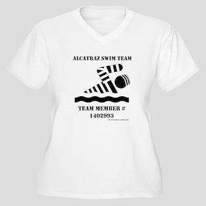 Alcatraz Swim Team Women's Plus Size V-Neck T-Shir