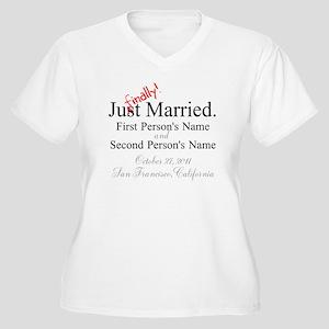 Finally Married Women's Plus Size V-Neck T-Shirt