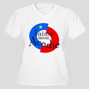 Acadie Women's Plus Size V-Neck T-Shirt