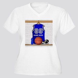 Personalized Basketball Jerse Women's Plus Size V-
