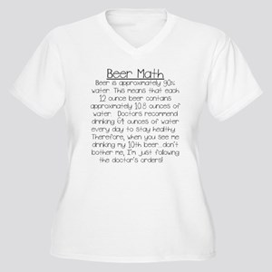 Beer Math Women's Plus Size V-Neck T-Shirt