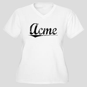 Acme, Vintage Women's Plus Size V-Neck T-Shirt