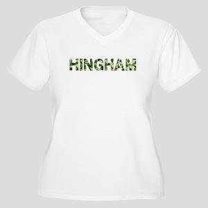 Hingham, Vintage Camo, Women's Plus Size V-Neck T-