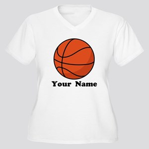 Personalized Basketball Women's Plus Size V-Neck T