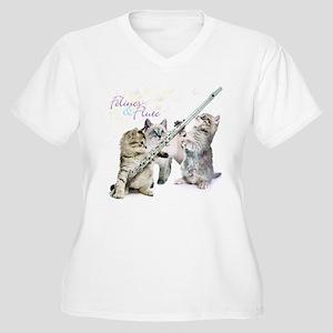 Felines Flute Plus Size T-Shirt
