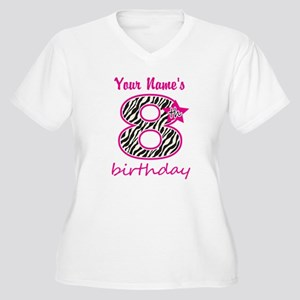 8th Birthday - Personalized Plus Size T-Shirt