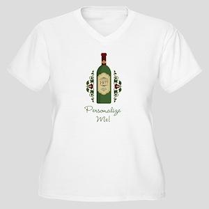 Customizable Birthday Plus Size V-Neck T-Shirt