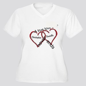 A true love story: personalize Plus Size T-Shirt