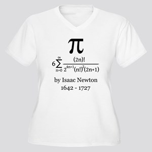 Pi by Sir Isaac Newton Plus Size T-Shirt