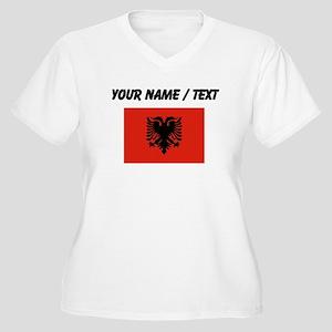 Custom Albania Flag Plus Size T-Shirt