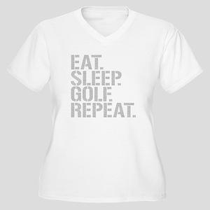 Eat Sleep Golf Repeat Plus Size T-Shirt