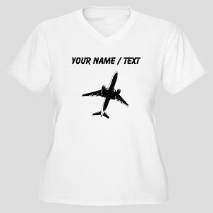 Custom Airplane Plus Size T-Shirt