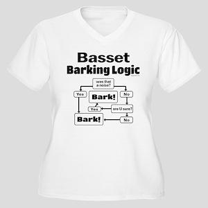 Basset logic Women's Plus Size V-Neck T-Shirt