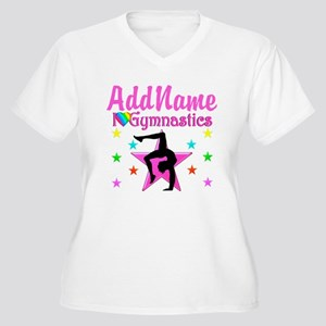 GYMNAST GIRL Women's Plus Size V-Neck T-Shirt