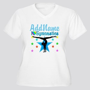 GYMNAST POWER Women's Plus Size V-Neck T-Shirt