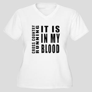 Cross Country Run Women's Plus Size V-Neck T-Shirt