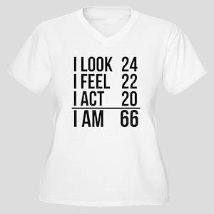 I Am 66 Plus Size T-Shirt