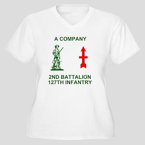 ARNG-127th-Infant Women's Plus Size V-Neck T-Shirt
