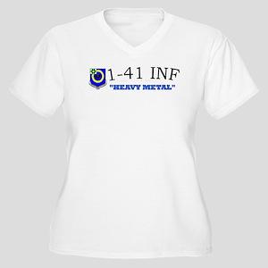 1st Bn 41st Inf Women's Plus Size V-Neck T-Shirt