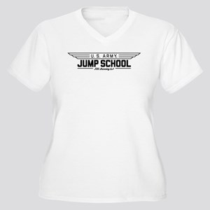 US Army Jump Scho Women's Plus Size V-Neck T-Shirt
