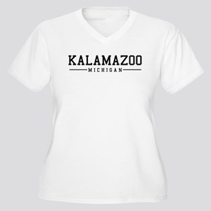 Kalamazoo, Michigan Women's Plus Size V-Neck T-Shi