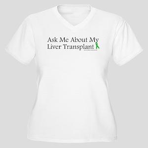 Ask Me Liver Women's Plus Size V-Neck T-Shirt